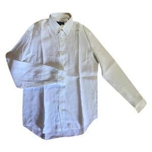 camicia bianca calvin klein in lino