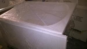 Vasche Da Bagno Angolari Glass : Glass guscio vasca angolare bianca con pannello posot class