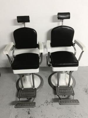 Coppia sedie poltrone da barbiere anni marca posot class for Poltrone da barbiere usate