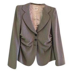giacca armani collezioni grigia