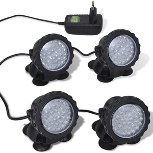 vidaXL Luce LED Acquario Set RGB 4 pezzi
