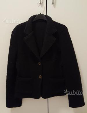 Giacca donna in lana cotta nera taglia L