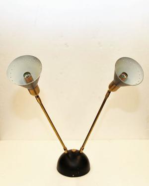 Lampadario applique due bracci modernariato