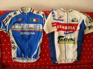 Maglie ciclismo V. NIBALI e M.PANTANI da collezione
