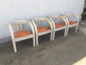 4 sedie design Poltronova anni 60
