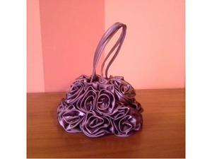 CAMOMILLA borsa viola con rose