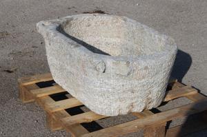 GRANDE VASCA IN PIETRA DI GRANITO cm.79x53 H 33