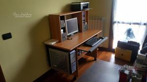 Scrivania ufficio casa due pezzi legno