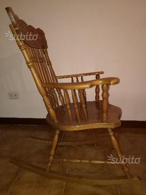 sedia a dondolo poltrona ikea con poggiapiedi posot class