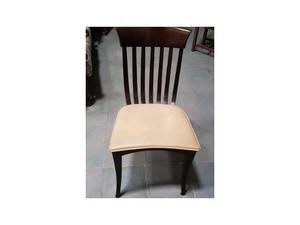 Sedie in legno con seduta in ecopelle nuove