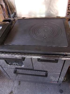 Stufa cucina a legna centa acciaio inox