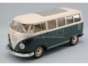 Welly WEGR VW BUS  GREEN/WHITE 1:24 Modellino