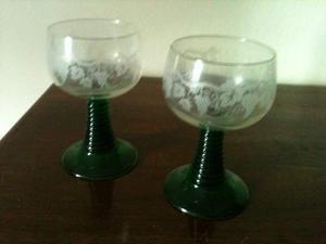 2 bicchieri decorati