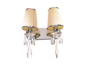 Applique lampada da parete con 2 bracci Alessia W2 Beige