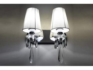 Applique lampada da parete con 2 bracci Alessia W2 Bianco