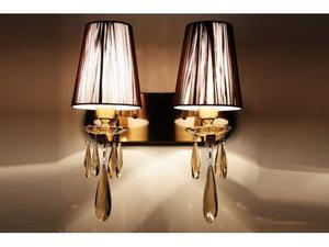 Applique lampada da parete con 2 bracci Alessia W2 Ottone