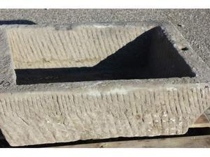 Grande vasca in pietra arenaria cm.81x53 h 27 n10 lavandi