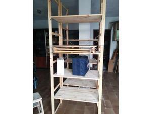 Scaffale ikea legno grezzo 163 x 54regalo lacca posot class for Scaffali in legno grezzo
