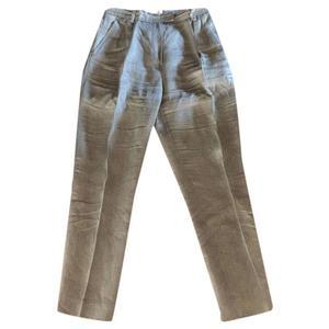 pantaloni in lino pesante