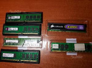 15 banchi di RAM DDR3 e DDR2 da 1, 2 e 4GB