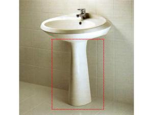 2 colonne lavabo/lavandino in ceramica bianca