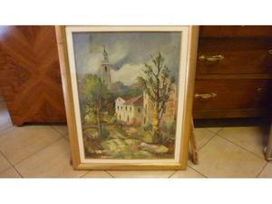 Aldo Oppici olio 50 x 70 paesaggio
