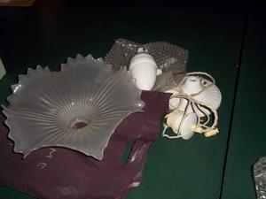 Lampadario da cucina in ceramica e vetro