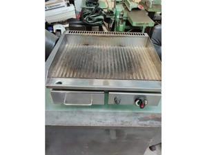 Piastra grill in acciaio inox mista elettrica posot class - Piastra in acciaio inox per cucinare ...