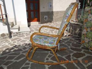 Sedia A Dondolo In Vimini Giunco Italy Posot Class
