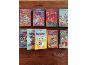 Lotto 9 VHS Disney video cassette cartoni animati