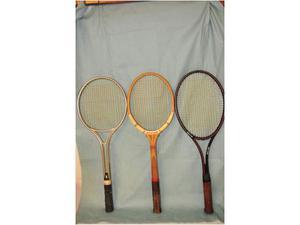 Tre racchette da tennis vintage anni 70 vendo in blocco