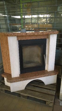 camini ventilato con marmo alfa REFRATTARI 100mq