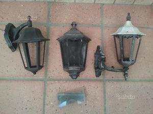 3 lampade a parete