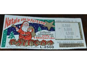 Gratta e Vinci Natale con la Fortuna Vincente mai