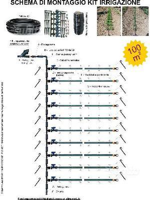 Tubo manichetta gocciolante 16 mm passo 30 cm posot class for Giardino 100 mq