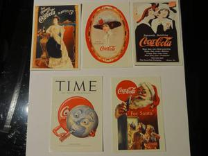 Lotto 5 figurine The World of Coca Cola