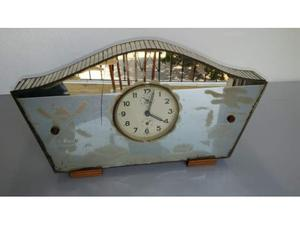 Orologio sveglia con mobiletto in vetro specchio anni 60