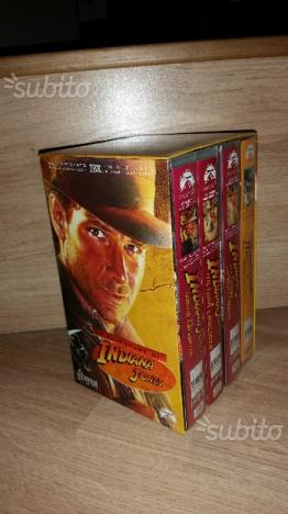 Le avventure di Indiana Jones Box VHS 3 film + Gio