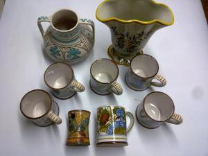 Set composto da 9 pezzi in Ceramica di Maioliche di Deruta