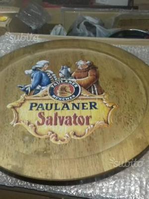 Targa in legno birra Paulaner