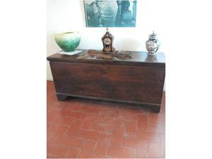 Cassapanca antica dell'800 in legno di massello.