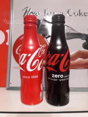 Coca Cola 2 bottiglie alluminio Lussemburgo
