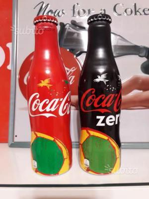 Coca Cola 2 bottiglie alluminio  inghilterra