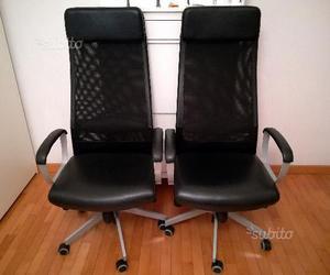 2 sedie per ufficio girevoli modello nominell ikea posot for Ikea sedie nere