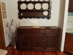 Credenza Con Piattaia Antica : Credenza con piattaia in legno posot class