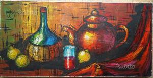 Dipinto olio su tela, natura morta n.1