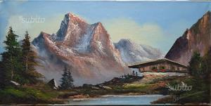 Dipinto olio su tela, paesaggio alpino n.13