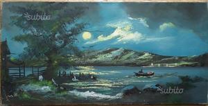 Dipinto olio su tela, paesaggio alpino n.28