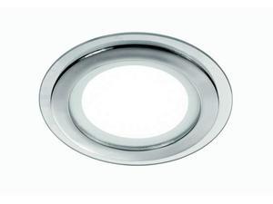 Faretto A Incasso Tondo Alluminio Cromato Bordo Vetro