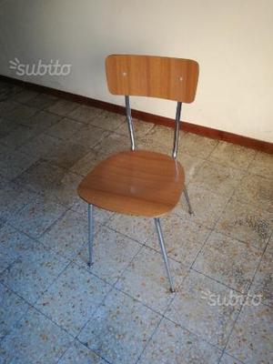 Gruppo 4 sedie vintage